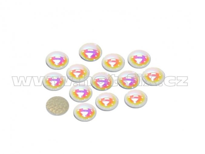 hot fix perla zažehlovací kámen na textil barva perleť bílá velikost 8mm