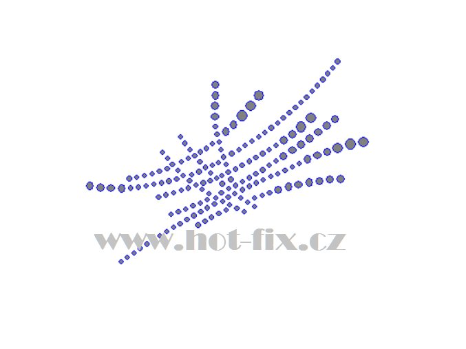 A070 abstraktní motiv nažehlovací potisk na textil hot fix kameny