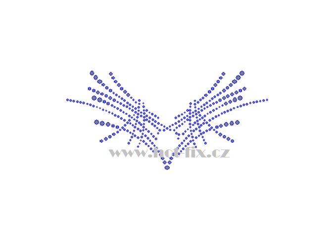 OV022 výstřih abstrakt nažehlovací kamínkový potisk na tričko, textil hot fix kameny