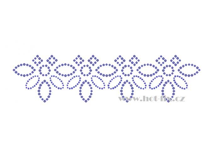 OP019 nažehlovací ozdobný kamínkový pásek na textil hot fix kamínky