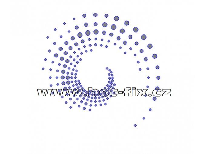 A050 - spirála nažehlovací aplikace na textil hot-fix kameny, rozměry cca 9,1x8,7cm