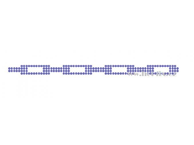 OP021 nažehlovací ozdobný kamínkový pásek na textil hot fix kamínky