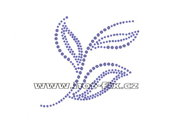 A055 - abstraktní květinový motiv, rozměry cca 9,8x9,0cm