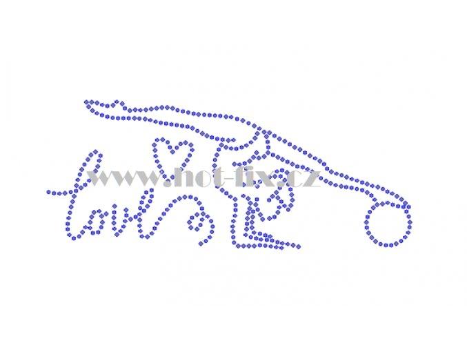 C175 I love gymnastics hot fix nažehlovací potisk na tričko, textil hot fix kamínky