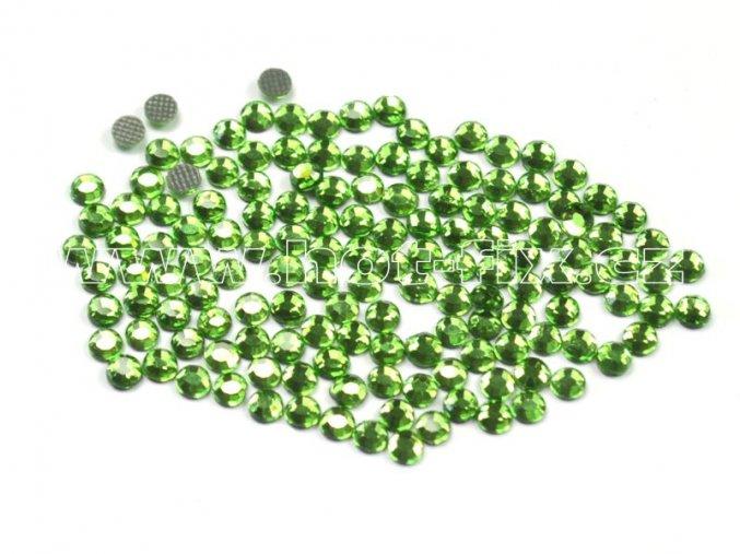 114 N Emerald světlý nový světle zelená nažehlovací hot fix kamínky na textil