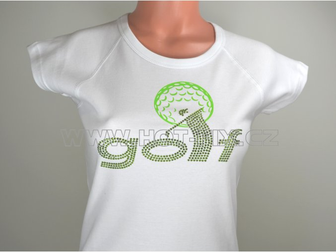 TDA40 12WWW sportovní tričko kamínky a fólie vzor golf