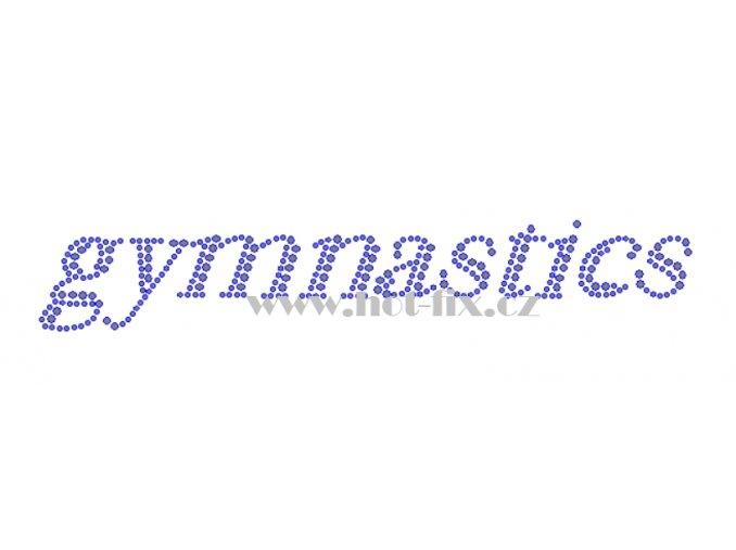 C178 gymnastics nažehlovací kamínková aplikace na textil a textilní doplňky pro gymnastky hot fix kameny