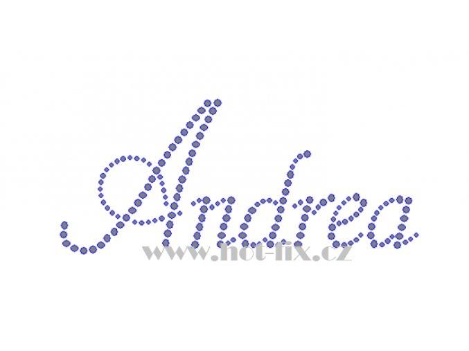 Andrea jméno nažehlovací potisk nažehlovací kamínkový aplikace na textil hot fix kameny