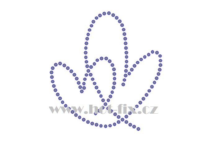 SB043 dvě srdce hot fix nažehlovací kamínková aplikace na triko, textil hot fix kameny