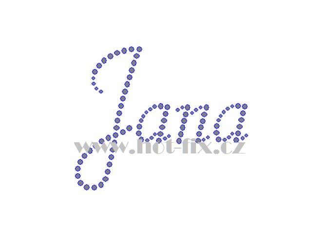 Jana jméno nažehlovací aplikace nažehlovací kamínkový potisk na textil hot fix kameny