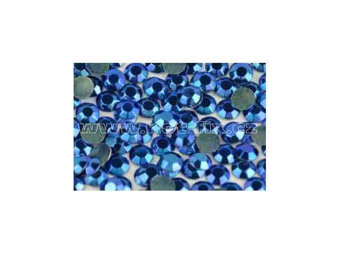 Octagon kovové hot fix kameny na textil barva modrá