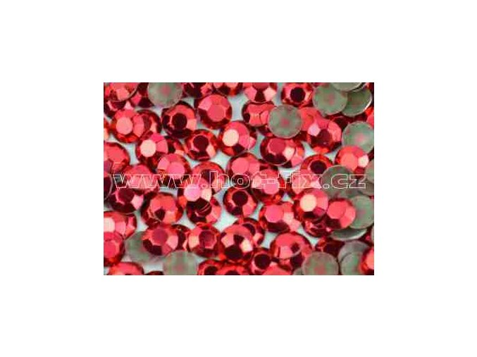 Octagon kovové hot fix kameny na textil barva červená