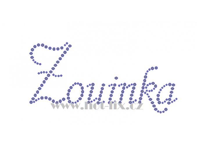 Zouinka jméno nažehlovací aplikace nažehlovací kamínkový potisk na textil hot fix kameny