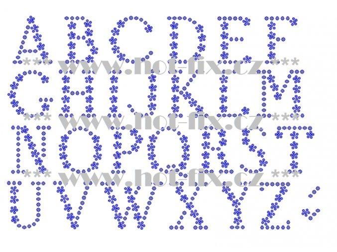 F021v písmena velké abeceda fonty písma nažehlovací kamínkový potisk na tričko, textil hot fix kameny