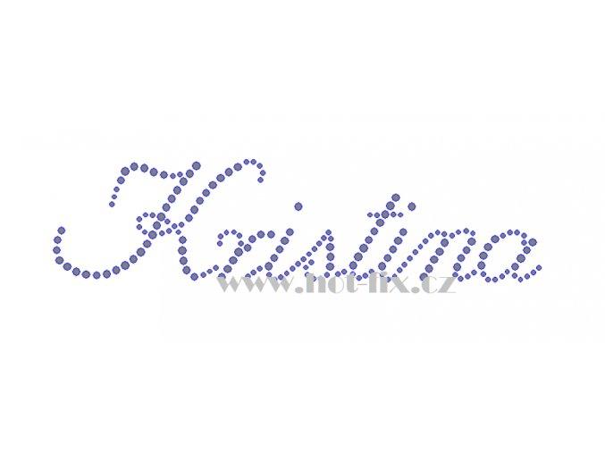 Kristina jméno nažehlovací kamínková aplikace na textil hot fix kameny