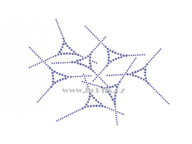 A095 abstraktní motiv nažehlovací potisk na textil hot fix kamínky