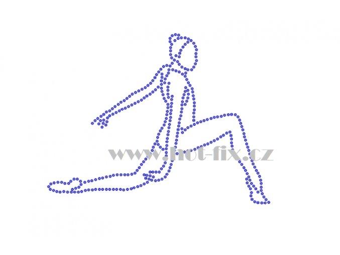 C183 gymnastka hot fix nažehlovací potisk na textil, hot fix kamínky