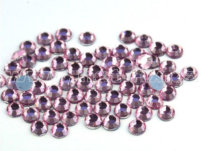 hot-fix kameny barva 105 Rose světlý /světle růžová, velikost SS10, balení 144ks, 720ks, 1440ks  tato barva pouze ve velikosti SS6 a SS10
