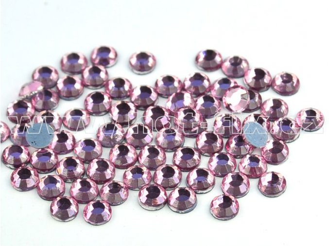 hot-fix kameny barva 105 Rose světlý /světle růžová , velikost SS10, balení 144ks, 720ks, 1440ks