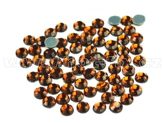 hot-fix kameny barva 108 Topaz tmavý, velikost SS20, balení 144ks, 720ks, 1440ks