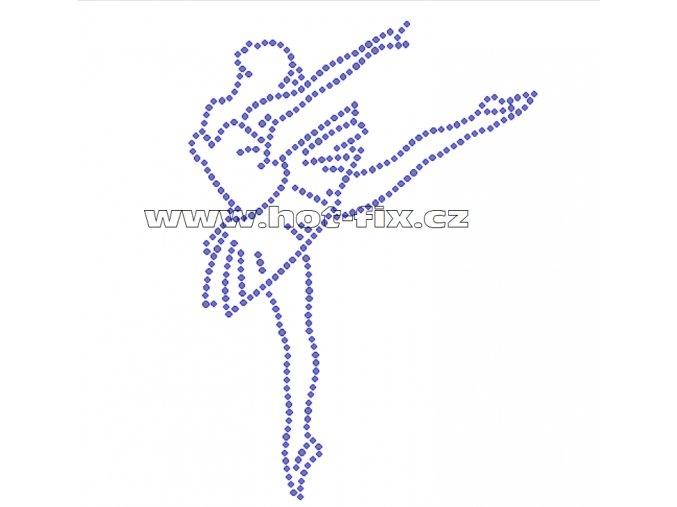 C076 baletka hot fix nažehlovací potisk na tričko, textil skleněné hot fix kamínky