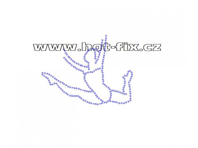 C027 - gymnastka nažehlovací hot-fix kamínkový potisk na textil, rozměry cca 11,6x8,9cm