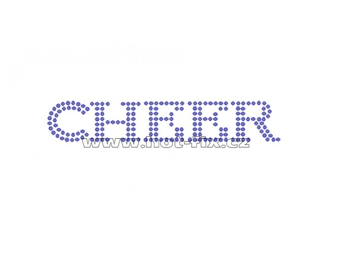 C084 - nažehlovací potisk z hot-fix kamenů cheer, rozm. cca 11,7x2,1cm
