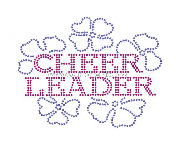C083 -  cheerleader hot-fix kamínkový nažehlovací potisk na textil, rozměry cca 15,4x11,9cm