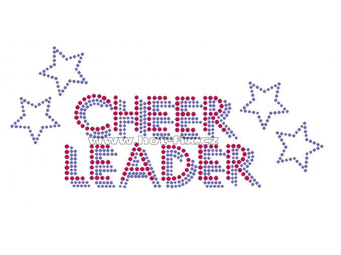 C091 - cheerleader hot-fix kamínkový nažehlovací potisk na textil, rozměry cca 22,0x10,0cm