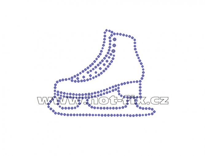 C108 - brusle nažehlovací hot-fix kamínkový potisk na textil, rozměry cca 9,0x7,3cm