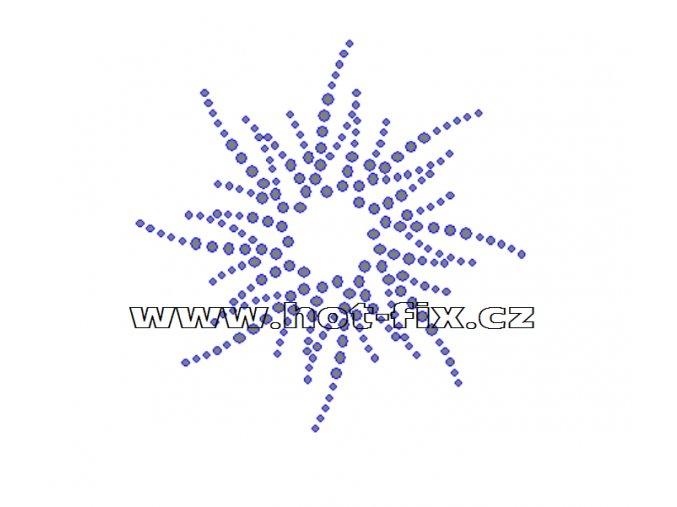 O011 - ornament hvězda nažehlovací aplikace na textil z hot-fix kamenů, rozměry cca 9,9x10,0cm