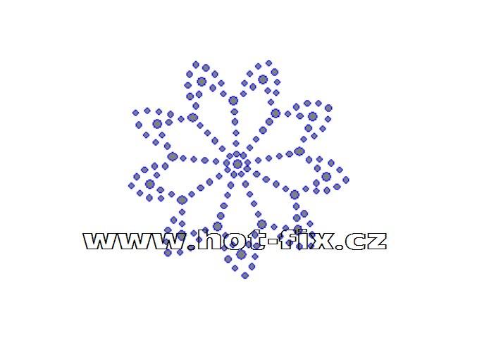 O025 - ornament nažehlovací aplikace na textil z hot-fix kamenů, rozměry cca 6,7x6,7cm