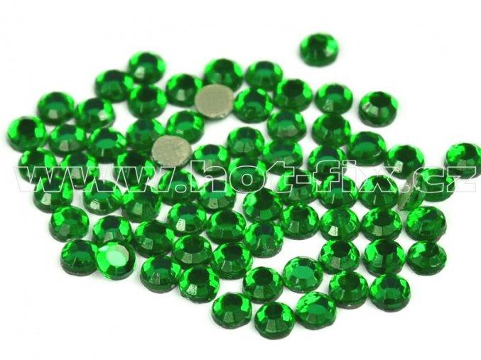 hot-fix kameny barva 114 Emerald světlý /zelená, velikost SS16, balení 144ks, 720ks, 1440ks