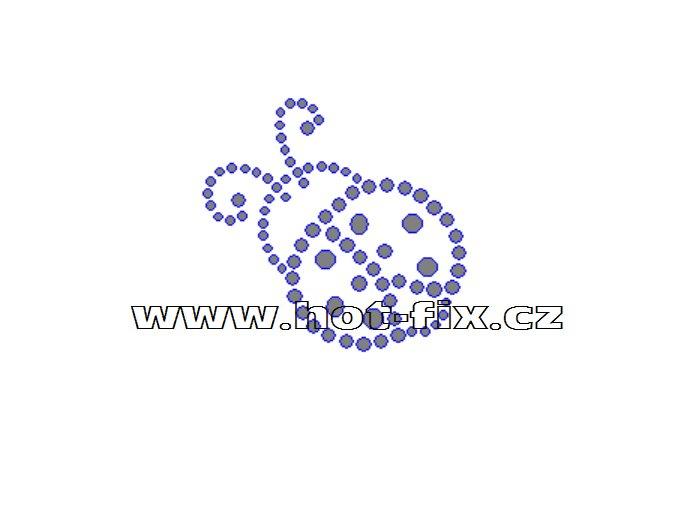 ZL003-A - nažehlovací potisk z hot-fix kamenů beruška, rozm. cca 5,2x5,0cm