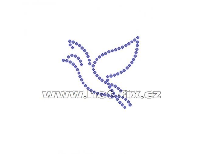 ZE012 - nažehlovací potisk z hot-fix kamenů, rozm. cca 5,4x5,0cm