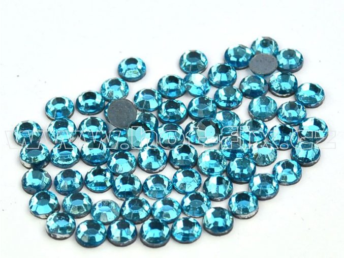 hot-fix kameny barva 120 Aquamarine, velikost SS 6, balení 144ks, 720ks, 1440ks