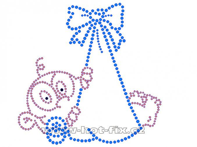 ND002 K mimino nažehlovací potisk na textil narození dítěte chlapečka kluka hot fix kameny