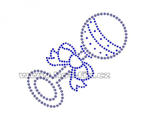 ND004 verze K chrastítko nažehlovací potisk na textil narození dítěte kluka hot fix kameny