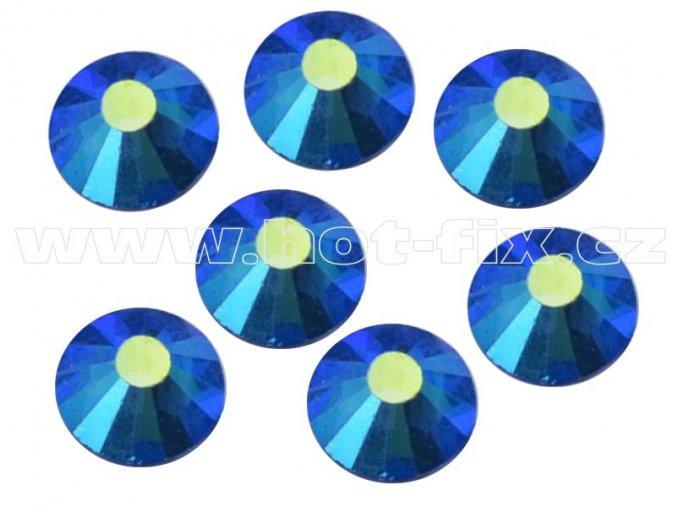 celobroušené hot-fix kameny Premium barva 205 AB Sapphire, velikost SS30, balení 144ks, 720ks nebo 1440ks
