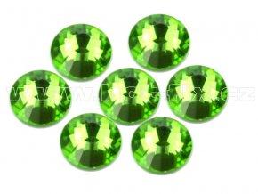 celobroušené hot-fix kameny Premium barva 113 Peridot, velikost SS30, balení 144ks, 720ks nebo 1440ks
