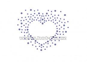 SB001-A - hot-fix nažehlovací potisk srdce, rozměry cca 9,3x7,6cm