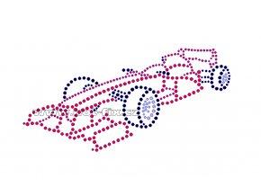 M022 - formule nažehlovací potisk z hot-fix kamenů, rozměry cca 17,9x8,9cm