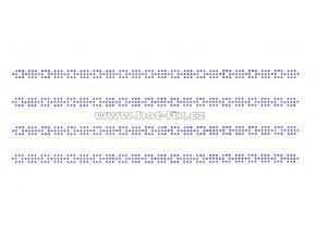 OP002-sada 4ks - ozdobný pásek čtverečky nažehlovací kamínkový potisk na textil za zvýhodněnou cenu