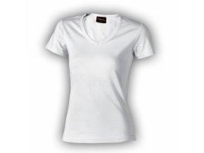FT32V tričko dámské, výstřih V, 100% bavlna, gramáž 210g/m2, barva bílá