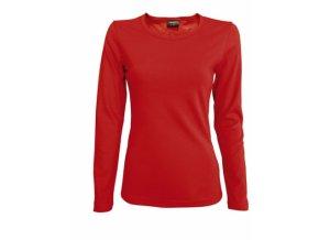FT41 tričko dámské, dlouhý rukáv, barva červená