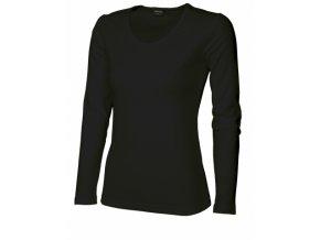 FT42V tričko dámské, dlouhý rukáv, barva černá