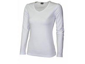 FT42V tričko dámské, dlouhý rukáv, barva bílá