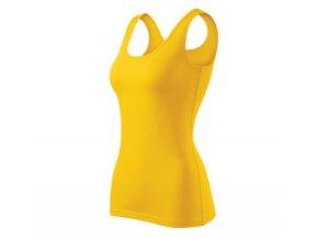 FT136 tílko dámské, 95% bavlna+5% elastan, gramáž 180g/m2, barva žlutá