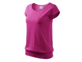 FTA120 dámské tričko tunika, 100% bavlna, gramáž 150g/m2, barva růžová purpur