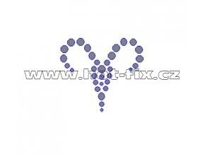 SZ002-01 - hot-fix kamínkový potisk znamení zvěrokruhu Beran (21. 3.-20. 4.), rozměry cca 4,5x4,0cm